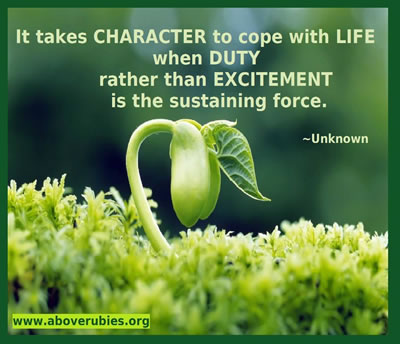 it takes character